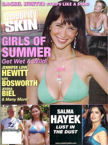 Celebrity Skin – Issue 153: Nude Celebrity Magazine! Jennifer Love Hewitt, Jessica Biel, Stacy Keibler, and More!