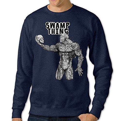 [JXMD Men's Swamp Thing Crewneck Hoodie Navy Size XXL] (Caitlyn Jenner Costume)