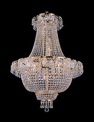 "Swarovski Crystal Trimmed Chandelier! French Empire Crystal Chandelier Chandeliers Lighting H 30"" W24"""