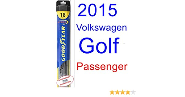 Amazon.com: 2015 Volkswagen Golf Wiper Blade (Passenger) (Goodyear Wiper Blades-Hybrid): Automotive