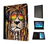Cannibas Best Deals - 716 - Rasta Lion Weed Cannibas Hair Jamaican Design Fashion Trend TPU Leather Flip Case For Apple iPad Mini 1 2 & ipad mini Retina 1 2 3 Full Case Flip TPU Leather Purse Pouch Defender Stand Cover