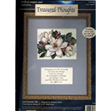 Dimensions - Treasured Thoughts Counted Cross Stitch - Words of Comfort and Inspiration - God Grant Me - Designed By Barbara Mock