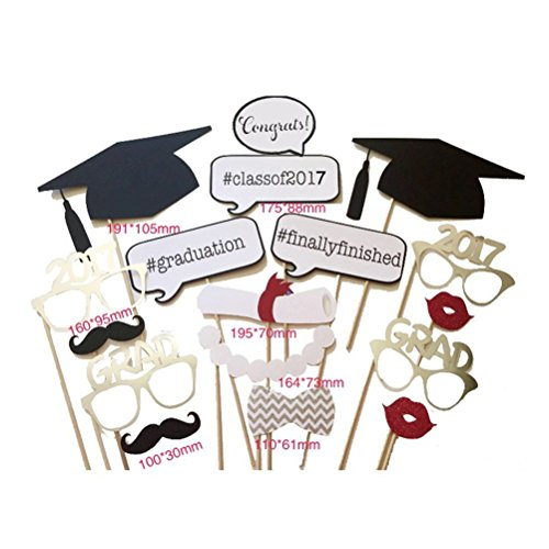 Why Choose Class of 2017 Graduation Party Decorations - Finally Finished Grad Photo Booth Props DIY ...