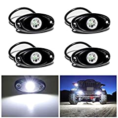 These 4 pods LED rock light kit with full warranty, and is premium top quality one, not cheap/fake ones.  You can install it anywhere you want:  Easy installation, DIY style, could be mounted anywhere you want. Perfect for car's underbody int...