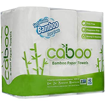 amazon com caboo tree free bamboo paper towels 6 rolls earth