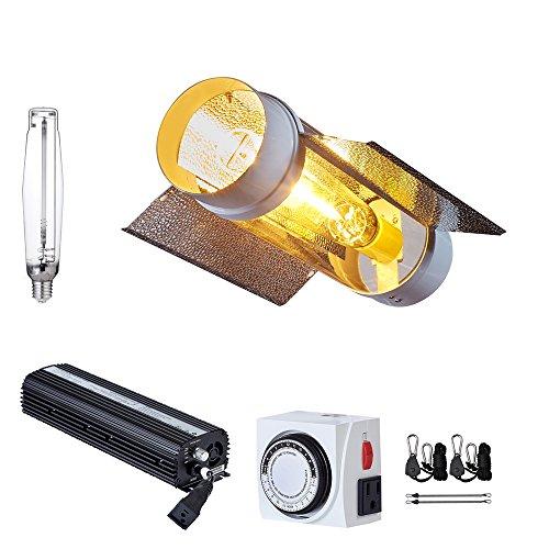 TopoGrow 600W/1000W MH/HPS Grow Light Fixtures KIts W/Cool Tube Reflector 120/240V UL Listed (1 bulb(HPS), 1000W) by TopoGrow