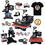 PanelTech 1000W 8 in 1 15''x12'' Swing-away Digital Heat Press Machine Hat Mug Plate T-shirt Transfer Sublimation