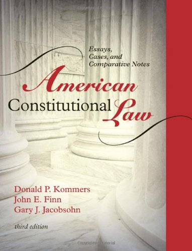 Book cover from American Constitutional Law: Essays, Cases, and Comparative Notes (Volumes 1 and 2)by Donald P. Kommers