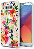 phone cases for a lg slide phone - Floral Case for LG G6,Gifun [Anti-Slide] and [Drop Protection] Clear Soft TPU Premium Flexible Protective Case For LG G6/LG G6 Plus - Abstract Classic Flowers Art Case