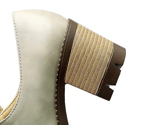 Amoonyfashion Donna Panta Tacco A Spillo Tacco Alto Con Tacchi Alti Scarpe-grigio