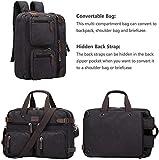 S-ZONE 3-Way Convertible Backpack Messenger Bag