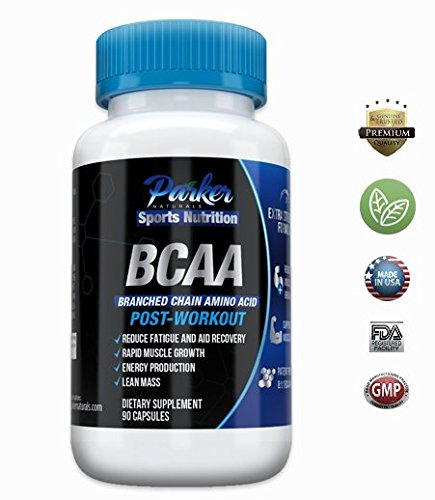 BCAA Amino Acid Dietary Supplement Capsules by Parker Naturals: Postworkout Muscle Growth & Recovery Supplements – 90 Capsules Review