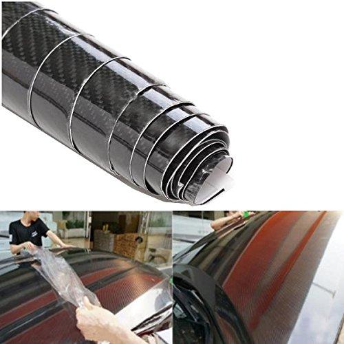 Alamor 6D Gloss Fibre De Carbone Autocollants De Vinyle Wrap Film Dé calcomanies