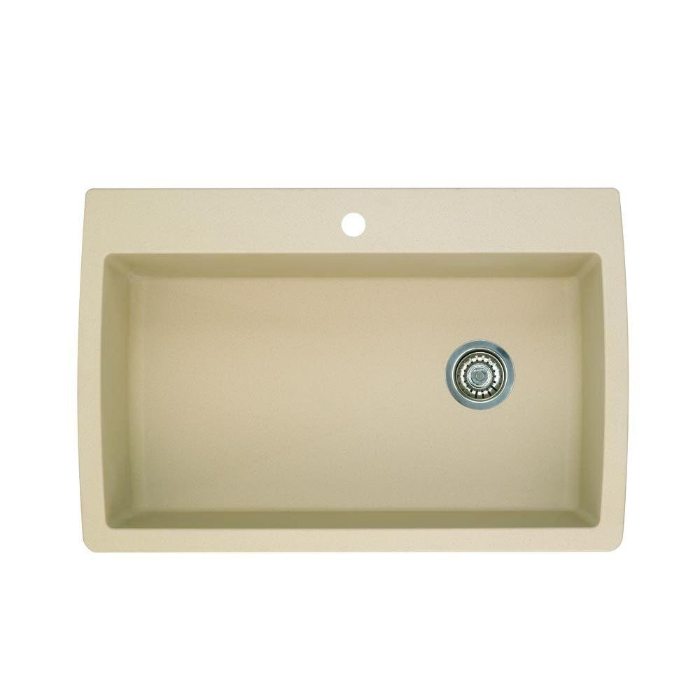 Blanco 441214 Diamond Super Single Bowl Silgranit II Sink, Biscotti      Amazon.com