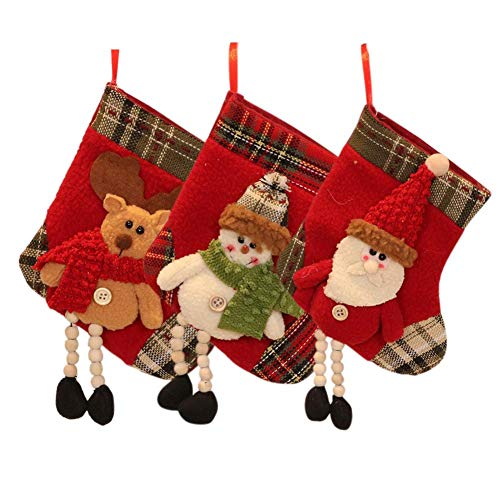 Christmas Decoration Santa Claus Pattern Stocking Christmas Tree Pendant Christmas Classic Cute Candy Socks Gift Bag