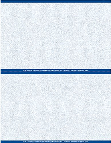 (Blue Premium Prescription Security Laser RX Sheets 8.5 x 11, Two Perforations (1,000 Sheets))