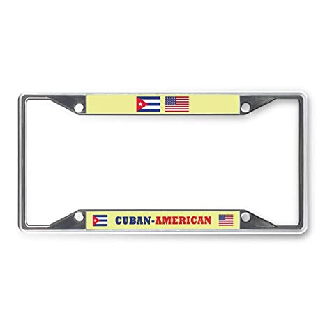 Chrome Metal Blades License Plate Tag Frame for Auto-Car-Truck