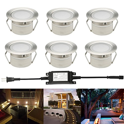 FVTLED Pack of 6 Low Voltage LED Deck Light Kit ?1.85