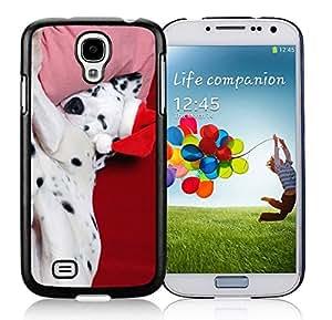 taoyix diy Hot Sell Christmas Sleeping Spotty Dog Black TPU Protective Skin For Samsung I9500,Samsung Galaxy S4