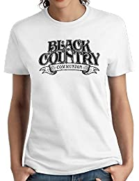 Women's Black Country Communion Comfortable Short Sleeve Tees Youth Cotton Shirts White