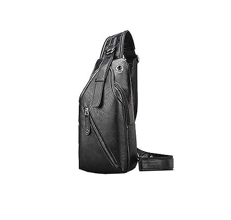 Layxi Maschio Ultralight Piccoli Monospalla Zaino Pelle Borsa Petto  Impermeabili Sling Bag Casual Crossbody Bag 3c082bac6b4