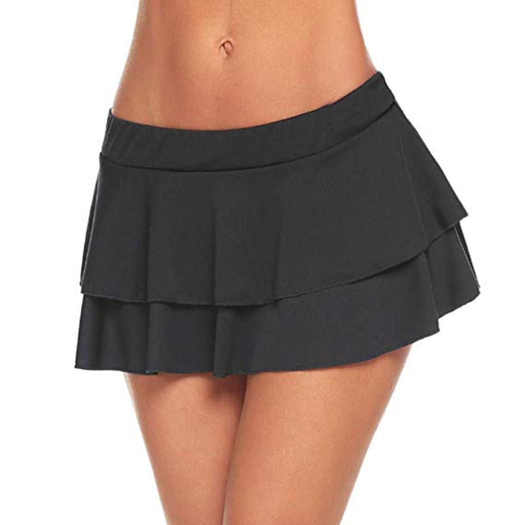Skirts for Girls,Womens Fashion Club Low-Waisted Sexy Mini Sleepwear Skirt,Women's Accessories Black