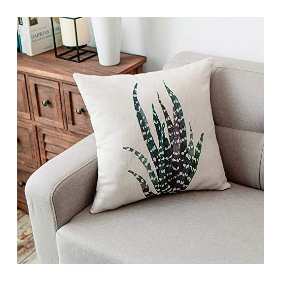 YeeJu Set of 4 Green Plant Throw Pillow Covers Decorative Cotton Linen Square Outdoor Cushion Cover Sofa Home Pillow Covers 18x18 Inch - ELEVATE YOUR ROOM DECOR! Let these attractive green plants throw pillow covers add a freshness, dynamic, fashionable and cozy feel to your life atmosphere. Definitely these amazing 18X18 Inches throw pillow covers will be your Home Highlights! YOUR COMFORT IS OUR TOP NOTCH! With fantastic moisture absorption and wet dissipation, our 100% natural cotton linen is the perfect fabric for cushion cover or sofa throw pillow cases. As the premium comfort eco-friendly material, it offering the most restful relaxation, breathable cool touch in summer and warm touch in winter. DETAILS HIGHLIGHT THE QUALITY! Soft, breathable, textured made with color matching, invisible zipper, allows easy insertion and removal of pillow inserts. All fabric edges are sewn with overlock stitch to prevent fray and ensure the cushion case holds shape over time.Printed with healthy and environment friendly water-based ink, unfading, no stimulation to skin. - patio, outdoor-throw-pillows, outdoor-decor - 51lgPkLwybL. SS570  -