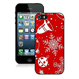 Featured Desin Iphone 5S Protective Cover Case Christmas Snowflake iPhone 5 5S TPU Case 2 Black