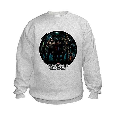 CafePress Guardians of the Galaxy Round Kids Sweatshirt - L Ash Grey