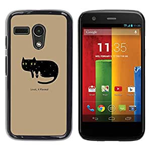 Paccase / SLIM PC / Aliminium Casa Carcasa Funda Case Cover - Funny Look 4 Moons Cat - Motorola Moto G 1 1ST Gen I X1032