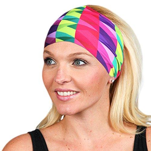 Hippie Gypsy Turban Headband For Women Soft Wide Headband Retro Hair Accessory Bandeau Beach Accessory (Fabric Bandeau)