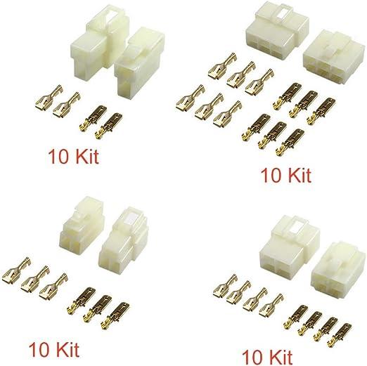 Femelle 3 X 3 pour câble de 0,5 à 2,1 mm Livré avec Cosses Connecteur Mâle