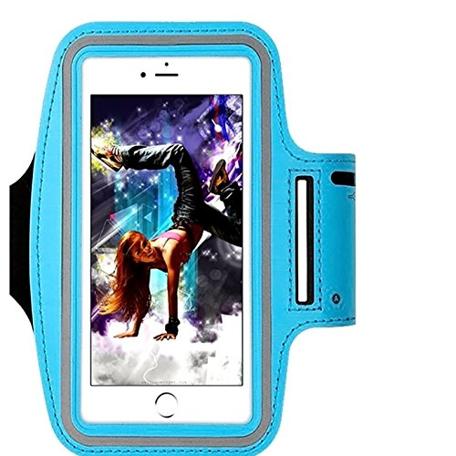IPhone X /8 / 7 / 6S / 6 / 5S / 5c SPORTS Armband,CaseHQ phone holder-Great for Running,Workouts or any Fitness Activity,velcro strap for Stores Cash, Cards and Keys. Fits smartphone 4.5