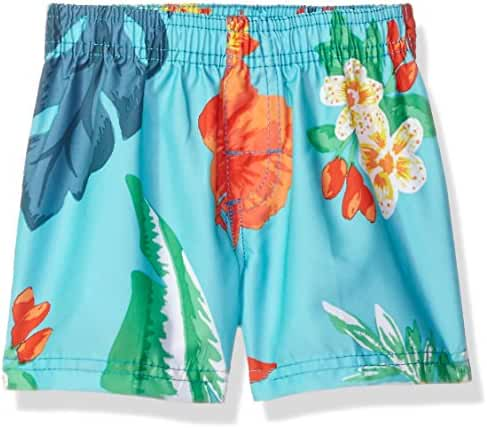 Kanu Surf Baby Boys' Papagayo Floral Swim Trunk