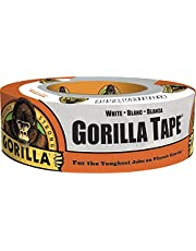 Gorilla Tape, Duct Tape, Utility Tape, Triple Layer Strength, Indoor & Outdoor, Weather Resistant Shell, 1.88 in X 30 yd, White Color, (Pack of 1) 6025001