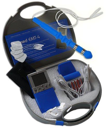 EMS / Tens 2-Kanal Reizstromgerät EMT-4 plus Anal- / Vaginalsonde PR-07 + Klemmen. Medizinprodukt für wirksame Schmerz- und Muskelbehandlung