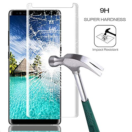 [2-Pack] Samsung Galaxy Note 9 Screen Protector, Caerrn 3D Screen Coverage Glass [Curved] [Bubble-Free] [9H Hardness] [Anti-Scratch] Tempered Glass Screen Protectors Galaxy Note 9 by LuettBiden (Image #1)