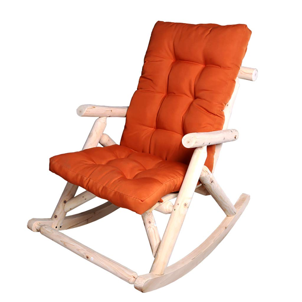 Rocking Chair in Solid Wood,High Back Armchair Leisure Chair for The Backrest Enhancing The House,for Baby Adults in The Lounge Room Bedroom by WY rocking chair