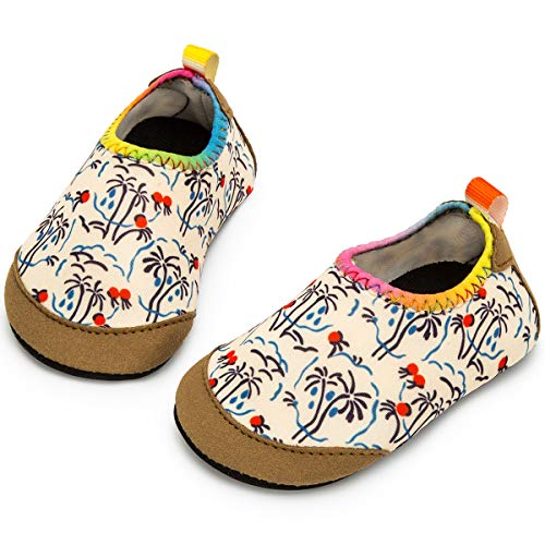 Apolter Baby Boys and Girls Swim Water Shoes Barefoot Aqua Socks Non-Slip for Beach Pool