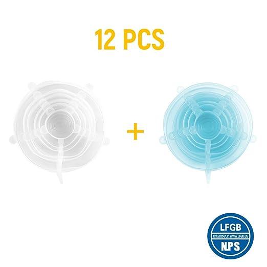 Tapas de silicona extensibles y reutilizables, tapa universal, de ...