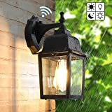 Dusk to Dawn Sensor Outdoor Wall Lanterns, Exterior
