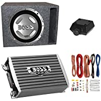 Boss Audio 12 1400W Subwoofer + 1500W Amplifier w Amp Kit +QPower 12 Enclosure