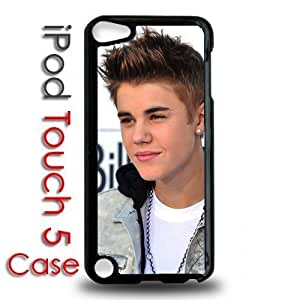 IPod 5 Touch Black Plastic Case - Justin Bieber Face Cute Boyfriend