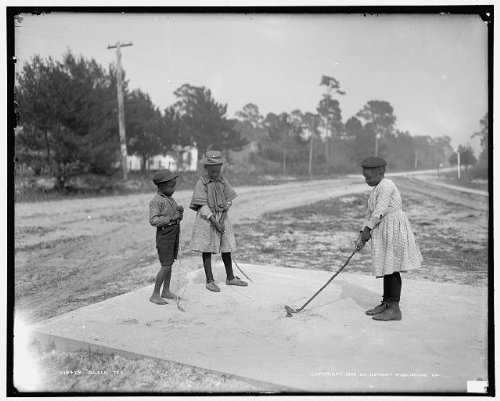 Photo: Black tee,African American,children,golf,playing outdoor,Detroit Publishing,1905