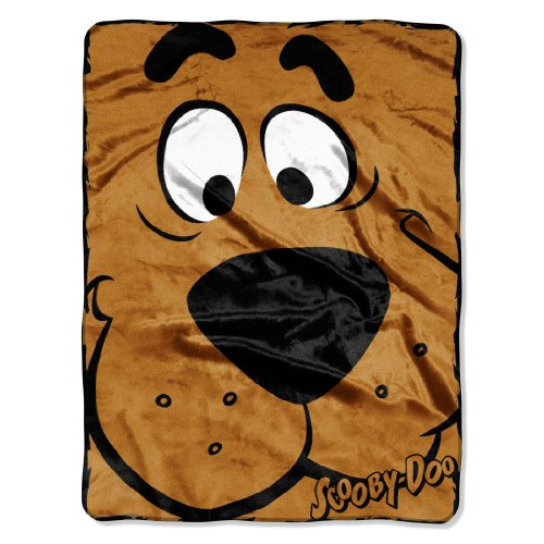 (The Northwest Company Warner Bros Scooby Doo, Close Canine Micro Raschel Throw Blanket, 46 by)