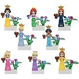 Sawaruita Girl Toys Princess Flowers Building Blocks Minifigure Sets Compatible All Major Brands Kids Games