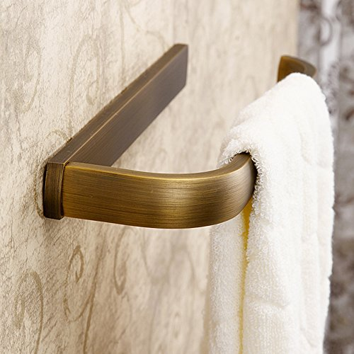 Leyden Retro Bathroom Accessories Solid Brass Antique Brass Finished Towel Ring Towel Holder Towel Bars Towel Rack Wall maounted (Antique Brass Double Towel Bar)
