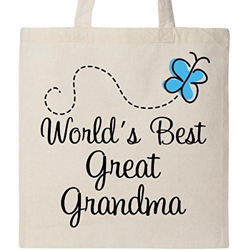 Inktastic - Great Grandma Butterfly Gift Tote Bag Natural 2a601