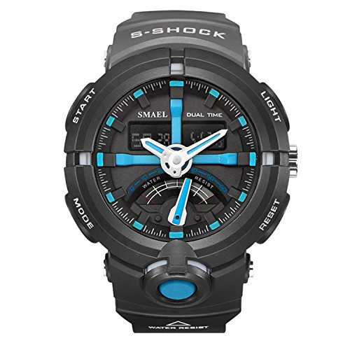 Men Watches Sport Quarz Watch Digital Brand Men's Wristwatch Male Clock Quartz Watches-Blue