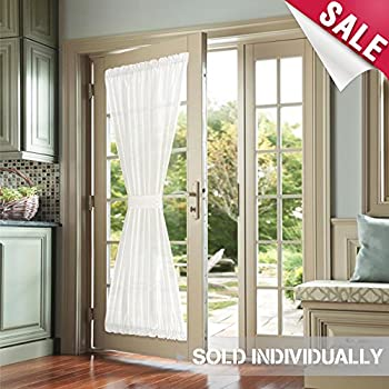Amazon Privacy French Door Panels White Curtains For French